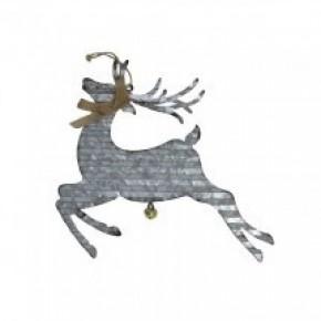 Galvanized Reindeer Wall Hanger