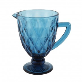 Vintage Reproduction Glass Pitcher, Blue