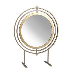 "21"" Gold Metal Tabletop Mirror"