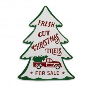 Tree Shaped Metal Sign - Fresh Cut Christmas Trees