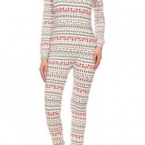 Womens Fleece Christmas Onesie Pajamas