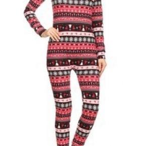 Womens Fleece Lined Onesie Pajama