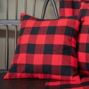 Red & Black Buffalo Check Pillow