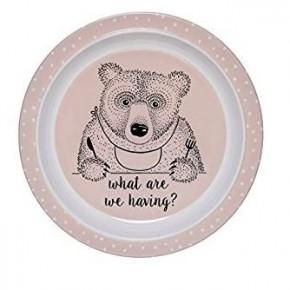 Pink Bear Plate