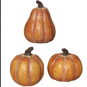 Orange Resin Pumpkin