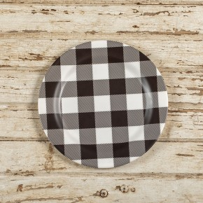 "10"" Black & White Buffalo Check Plate"