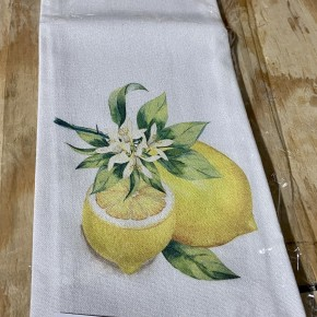 "28"" Fabric Lemon Tea Towel"