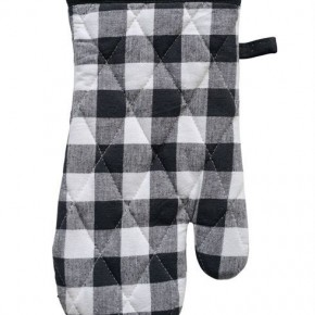Black & White Cotton Gingham Hot Mitt