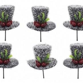 Top Hat Ornaments - pack of 6