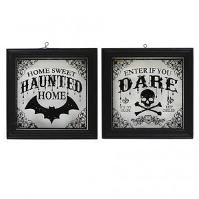 """11.5"""" Halloween Glass Picture"""