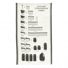 Cotton Tea Towel w/ Kitchen Conversion Chart