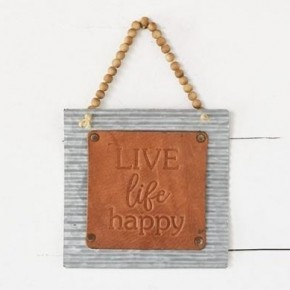 LIVE LIFE HAPPY SIGN