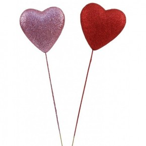 Glitter Heart Pick 100mm