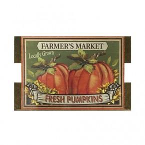 Pumpkin Wood Crate