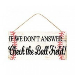 """"""" Check the Ball Field """" -  SIGN"""