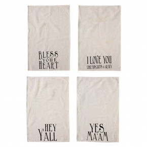 Cotton Tea Towel w/ Southern Saying