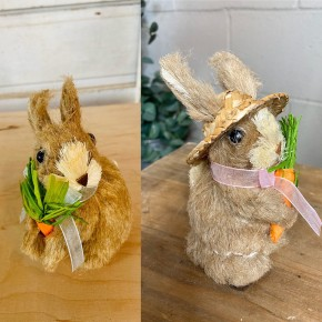"5""H  Natural Grass Bunny"