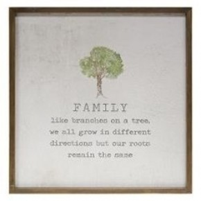 Framed Watercolor Wall Art - Family