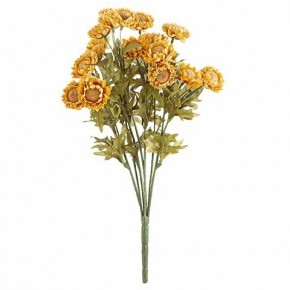 "16"" Golden Yellow Straw Flower Bush"