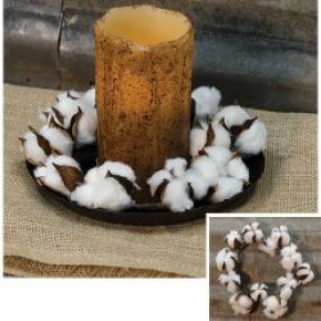 Country Cotton Ball Ring, 4""