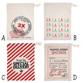 Mini Santa Sack Drawstring Bag