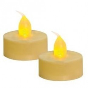 2/PK LED Tealight, Ivory