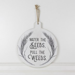 WOOD CUTTING BOARD - WATER THE SEED, PULL THE WEEDS