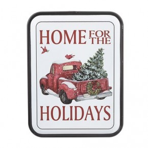 Metal Home For The Holiday Wall Tray