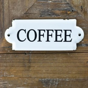 "7"" COFFEE TIN SIGN"