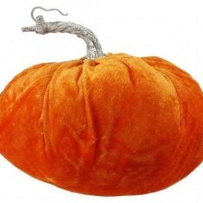 Large Velvet Soft Pumpkin - Orange