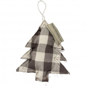 Farmhouse Fabric Tree Ornament