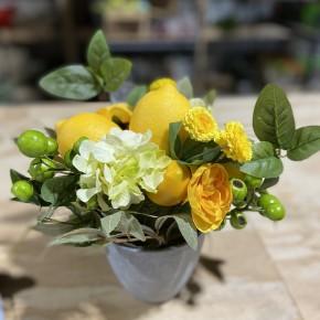 """10.5"""" Lemon Splendor in Pot"""