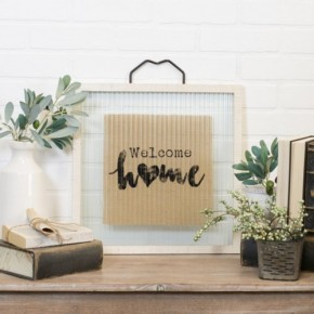 Home Sign With Hanger