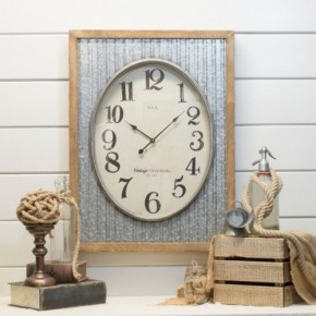 Metal Clock with Frame