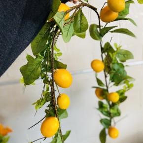 5' Lemon and Leaf Garland