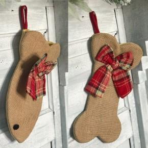 Burlap Pet Stocking