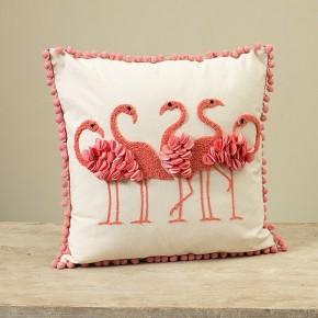 "16""L Flamingo Pillow"