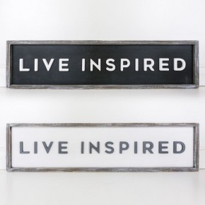 """Double Sided Sign- """"Live Inspired"""""""
