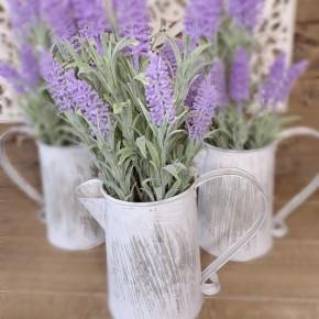 """14.5""""H Lavender in Metal Watering Can"""