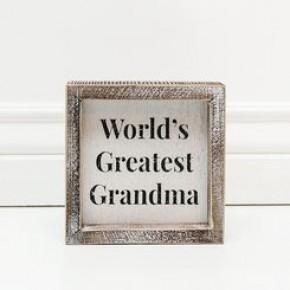 Framed Sign- Worlds Greatest Grandma