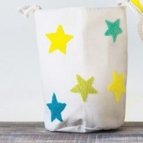 Cotton Embroidered Star Baskets