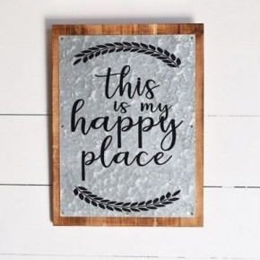 Tin Sign- Happy Place