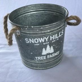 Galvanized Bucket w/ Rope Handles