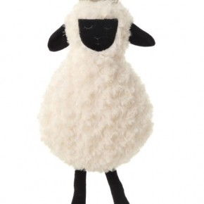 "9-1/2""L x 19""H Plush Sheep w/ Crown"