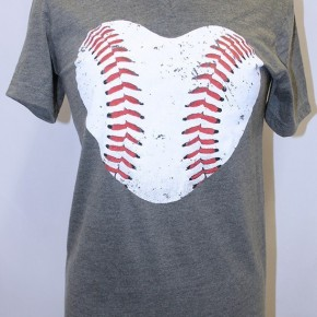 Baseball V-Neck Tee