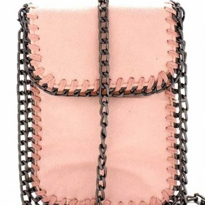 Mini Blush Pink Crossbody with Chain