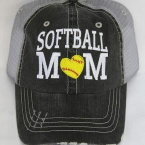 Softball Mom Vintage Mesh Hat