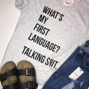 First Language Graphic Tee