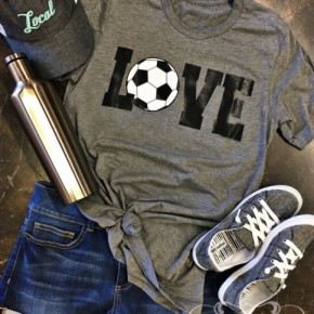Soccer Love with Silver Sparkle Tee