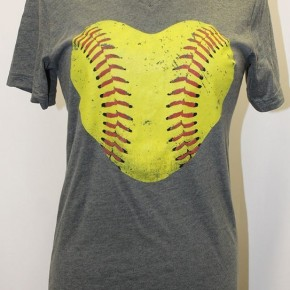 Softball V-Neck Tee